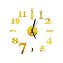 Diy 3d стены Стикеры самоклеящаяся механизм настенных часов