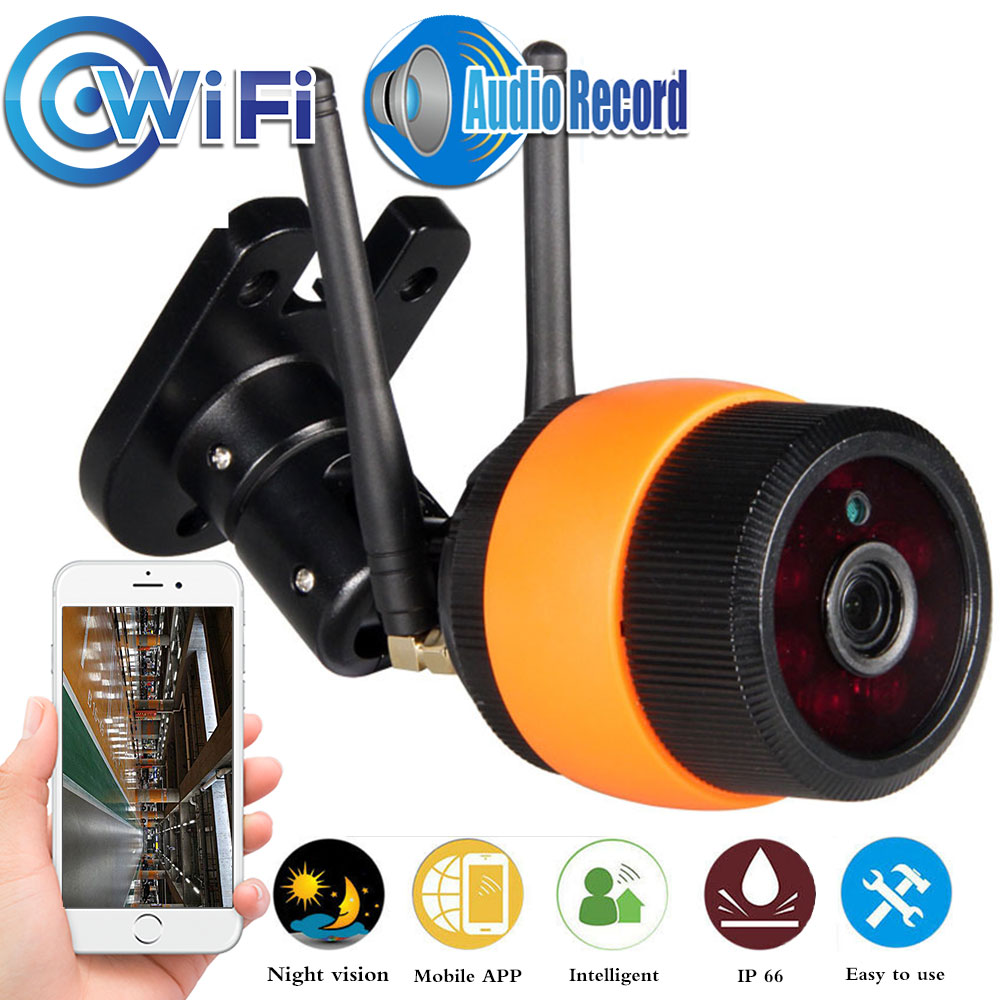 720P  1080P Wireless Outdoor Bullet IP Camera Waterproof WiFi CCTV Surveillance Camera Motion Detection With TF Card Slot Audio