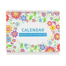 1Pc 2022 Desk Calendar English Calendar Countdown Schedule (Assorted Color)
