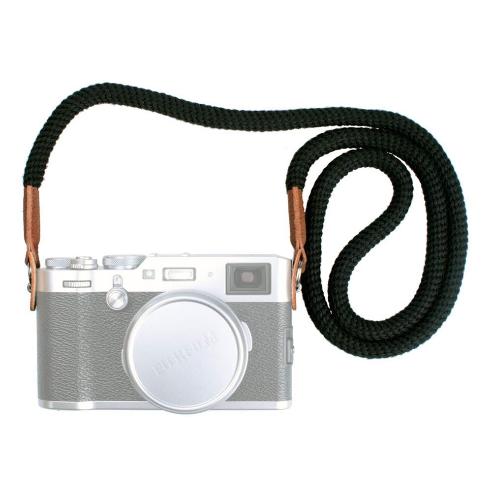 Universal 100cm Cotton Rope Camera Neck Strap Vintage Shoulder Strap Leather For Sony Canon Fuji Nikon Olympus Pentax Camera