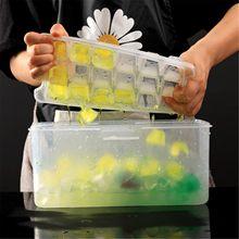 Multi-camada de gelo bandeja de plástico gelo que faz o molde criativo do agregado familiar verão refrigera