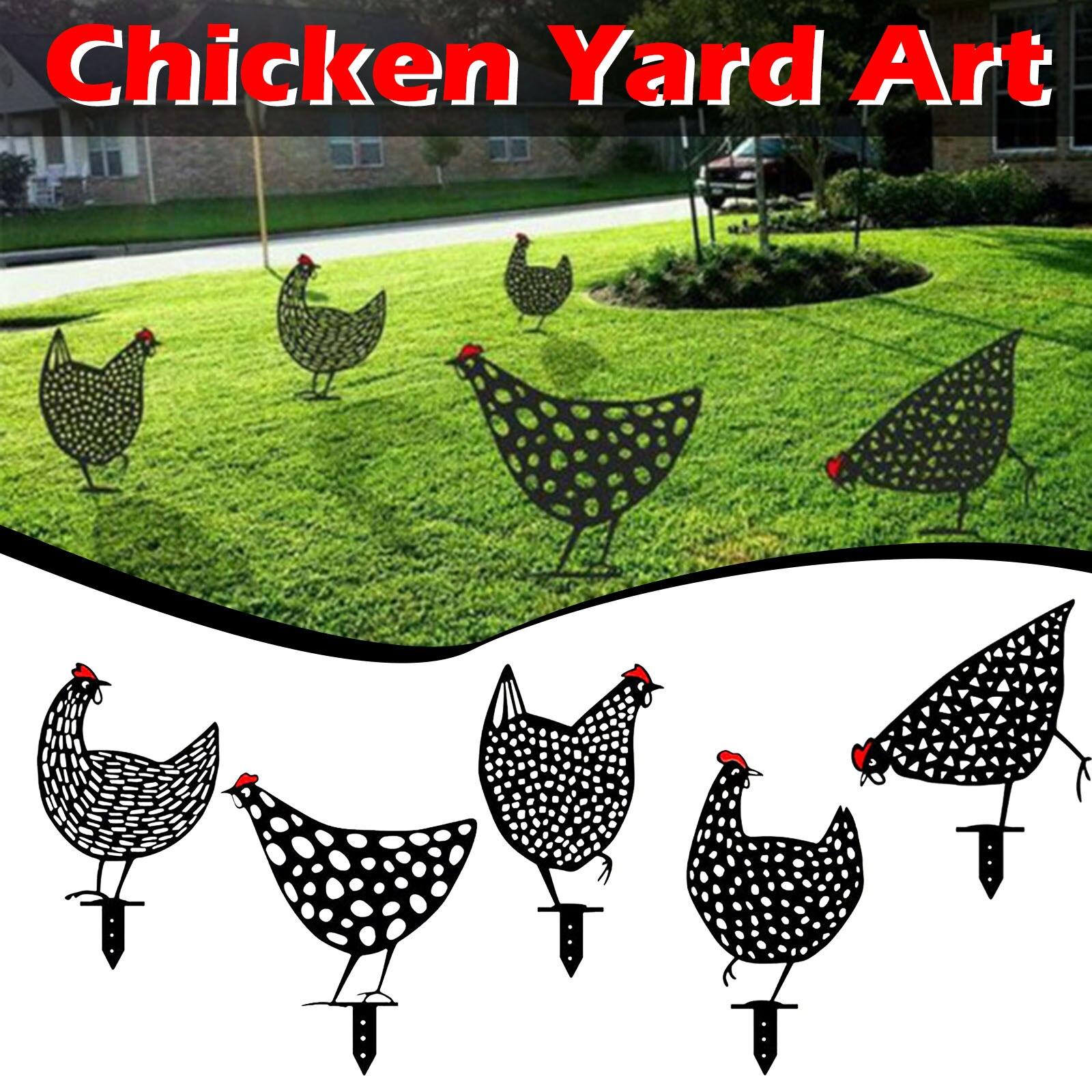 Хит продаж, искусство для куриного двора, для улицы, сада, двора, лужайки, колья, металлическая курица, Декор, подарок, опт и Прямая поставка