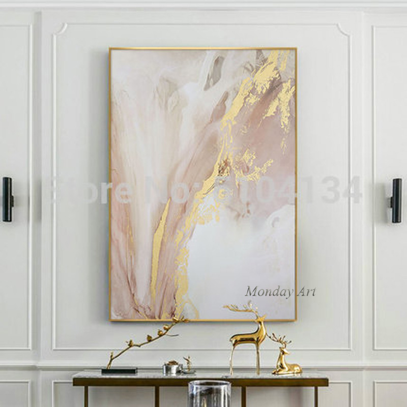 Hand-painted-Abstract-Gold-and-Pink-Color-Oil-Paintings-Modern-Canvas-Painting-Wall-Painting-for-Living (4)