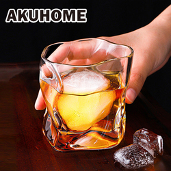 Creative Irregular Glass Cups Transparent Home Drinkiware for Whiskey Beer Wine Vodka High Quality Shot Glass Water Bottle