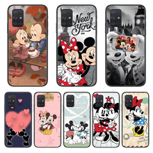 Disney mickey mouse caso de telefone casco para samsung galaxy a 50 51 20 71 70 40 30 10 e 4g 5g s escudo preto arte capa celular