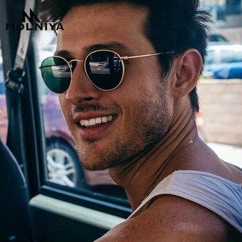 цена на MOLNIYA Retro oval sunglasses Women/Men brand designer vintage small black Red Yellow shades sun glasses Oculos De Sol
