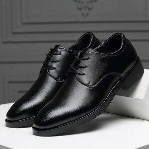 Image 2 - IMAXANNA גברים נעלי יוקרה מותג אמיתי עור עסקי שמלת חתונת נעלי גבר קלאסי עור נעלי נעליים בתוספת גודל 38  47