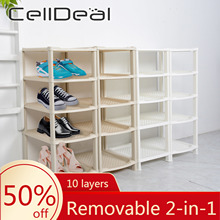 Organizer-Holder Shoe-Hanger Shelf-Storage Multi-Purpose Stand-Fabric Celldeal 10-Layers