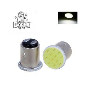 Image 3 - 10pcs P21W 1157 Bay15d 1156 BA15S P21W LED steering signal bulb COB car interior light stop reverse rear brake light super gloss