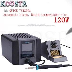 Image 1 - سريع TS1200A أفضل نوعية محطة لحام خالية من الرصاص الحديد الكهربائية 120 واط مكافحة ساكنة لحام 8 ثانية لحام سريع التدفئة