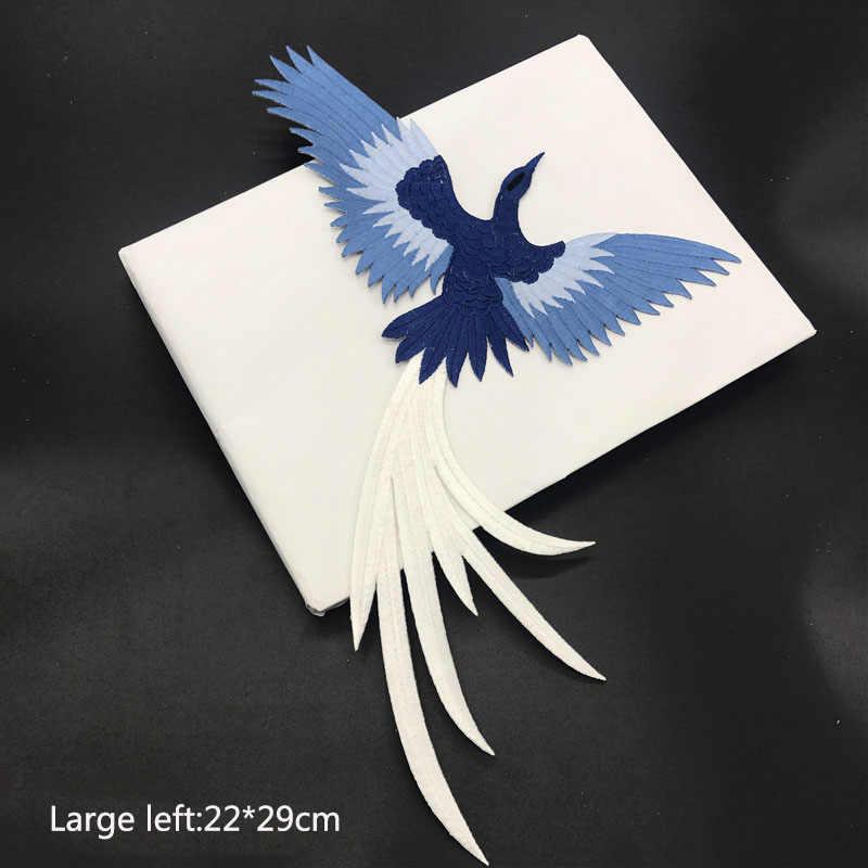 1 Uds., pasta de tela bordada con encaje de pájaro, plancha en la aplicación, parche DIY adhesivo Phoenix