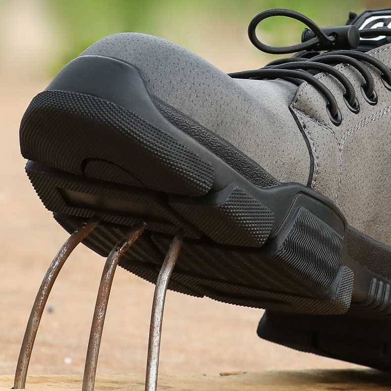 Männer Sicherheit Schuhe Anti-piercing Atmungsaktiv tragen-wider Anti-skid Und Sicherheit Schuhe Stahl Kappe Arbeitskleidung schuhe