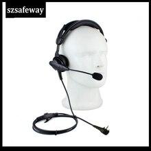 Two Way Radio Boom Mic Headset With In Line PPT For Vertex  VX231 VX261 VX351 VX 417 VX 451 EVX 531 EVX 534