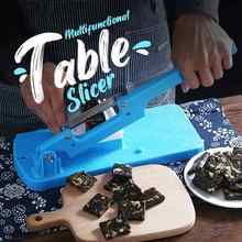 Multifunctional Table Food Slicer Household Manual Cutting Machine Kitchen Supply for Frozen Meat Fruit BV789