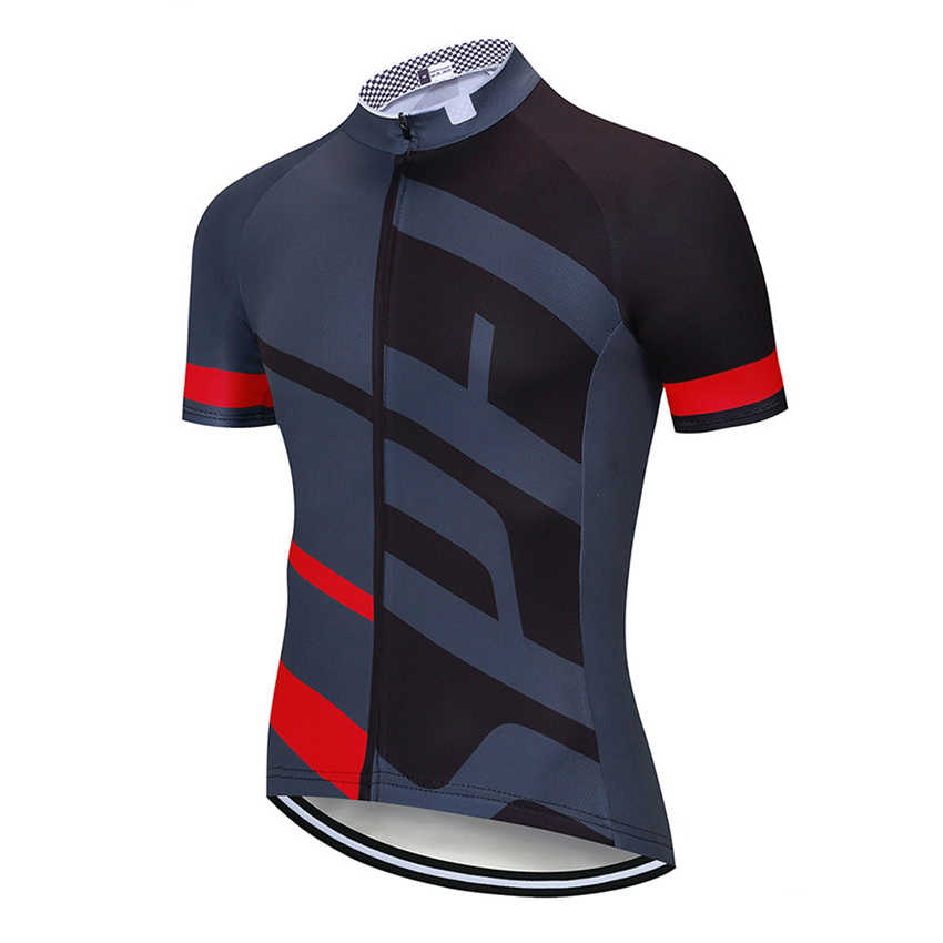 Homme à manches courtes maillot de cyclisme cuissard short de vélo Summer Top à séchage rapide Noir