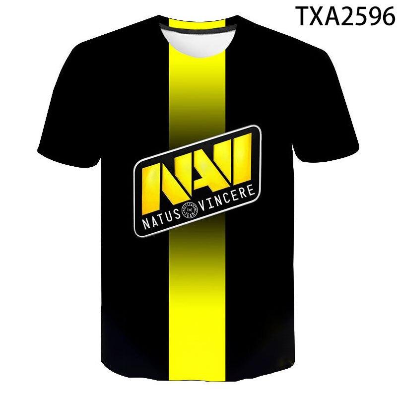 Natus Vincere NAVI, camiseta de manga corta de verano para hombres y mujeres, camiseta CS GO DotA2 LOL para niños y niñas, ropa de calle, Tops