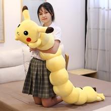 Very Long Pikachued Big Size Elf Plush Doll Kawaii Stuffed Toy Anime Cartoon Pillow Yellow Decoration Christmas Gift For Kids