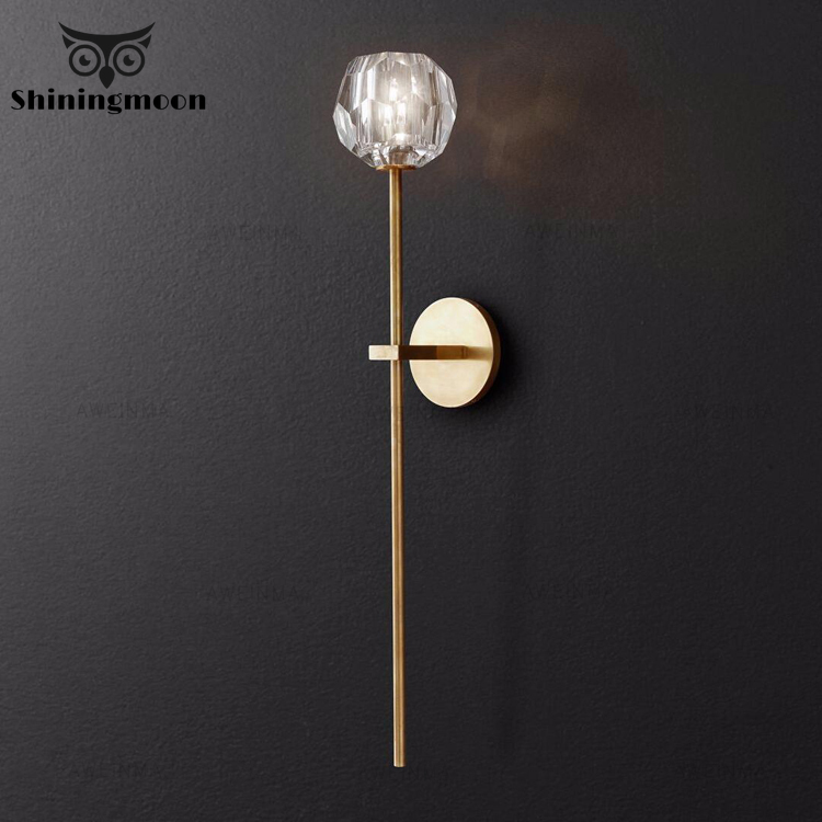 Post-modern Vernish To Vitral Wall Lights for Home Nordic Bathroom Bedroom Wall Lamps Living Room Decoration Wall Sconce Lamp
