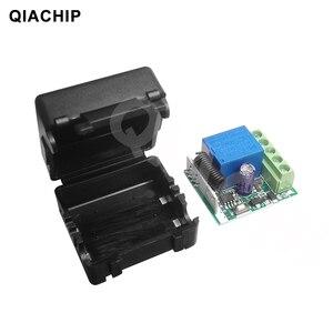 Image 5 - Switch com controle remoto universal QIACHIP, módulo de receptor e relé 1CH de 12V DC, transmissor RF 433Mhz