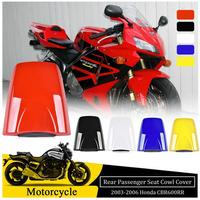 Rear Hard Seat Cover For 2003 2004 2005 2006 Honda CBR600RR CBR 600RR 600 RR Passenger Seat Cowl Hump Motorcycle Accessories