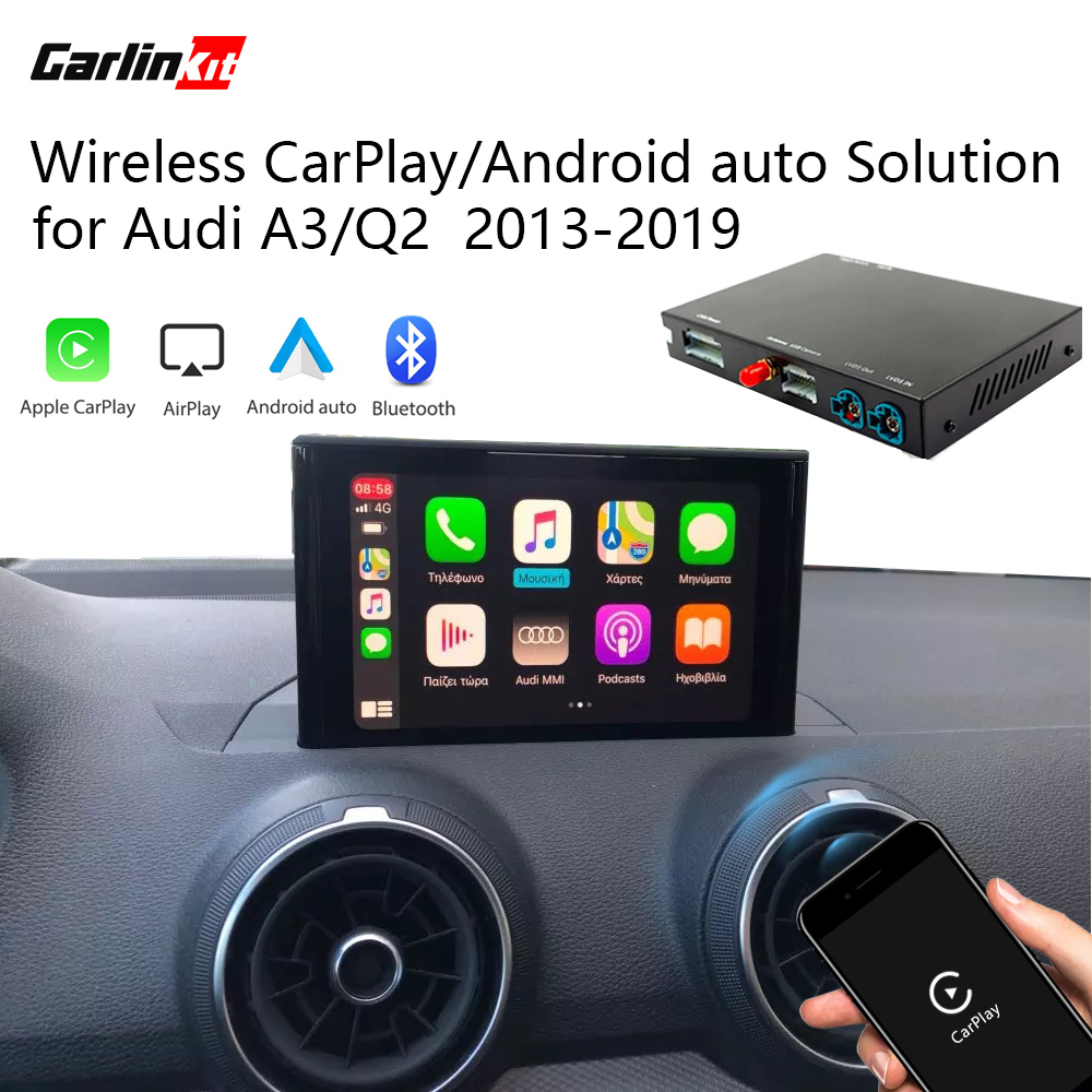 2020 Carlinkit Apple CarPlay Android Auto Wireless Decoder for Audi A3/Q2 MMI Original screen iOS & Reverse image Retrofit Kit image