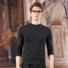 UCAK Brand O-Neck Sweaters Men 2020 New Arrival Wool Cashmere Casual Streetwear Tops Fashion Trend Pullover Men Sweater U1051