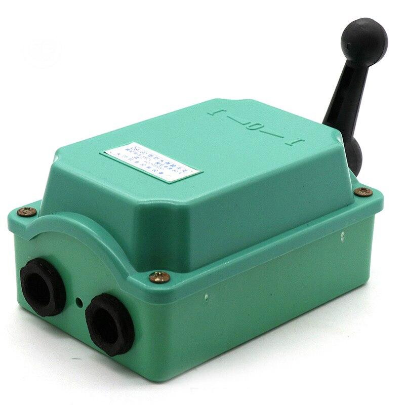 Зеленый барабанный переключатель 60 ампер, управление двигателем вперед/выключение/реверс, защита от дождя, реверс 60 А