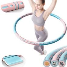 6 Stukken Afneembare Rvs Gemakkelijk Sport Hoepel Buiktrainer Fitness Gym Tool Gewogen Taille Trainer Ring Workout Apparatuur