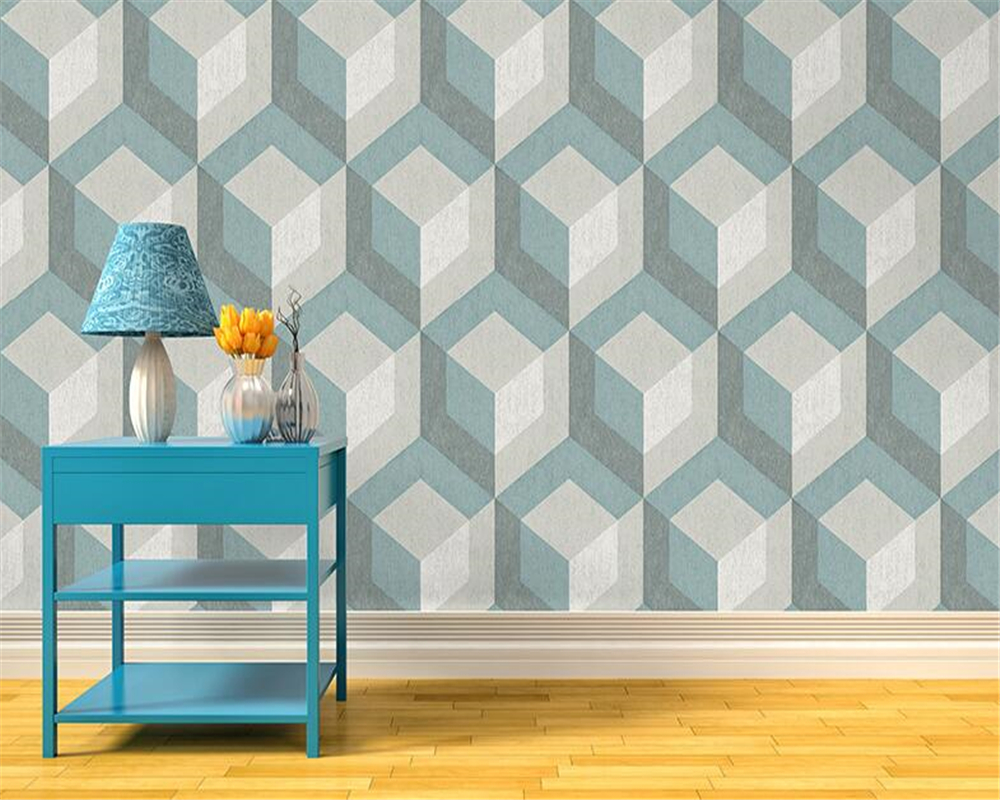 beibehang Modern home decoration geometric wallpapers living room bedroom cafe television background 3d wall paper roll