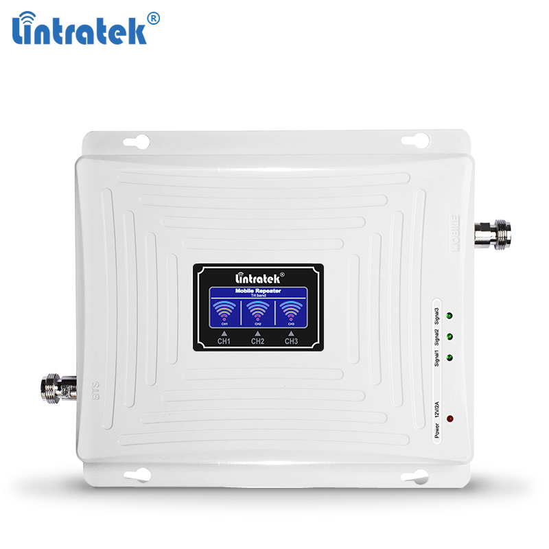 Lintratek GSM 2G 3G 4G Repeater 900 1800 2100 2600Mhz Signal Booster 4G 1800 2600 LTE Triband Amplifier GSM 900 3G 2100Mhz