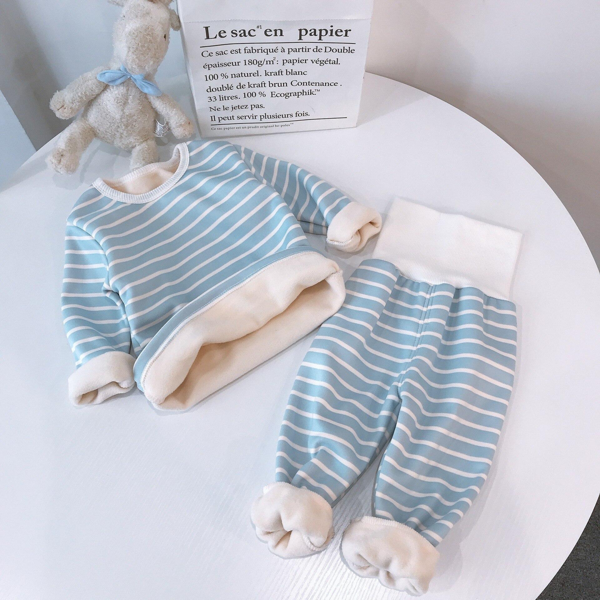 Children Pajamas Sets Baby Boys Girls Clothing Sweatshirt Waist Pants Set Toddler Warm Autumn Winter Outfits Kids Suit Clothes 3