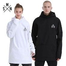 SMN Сноуборд Зимние толстовки пара куртка Водонепроницаемый утолщаются дышащий для мужчин женщин лыжное пальто теплая зимняя уличная спортивная толстовка