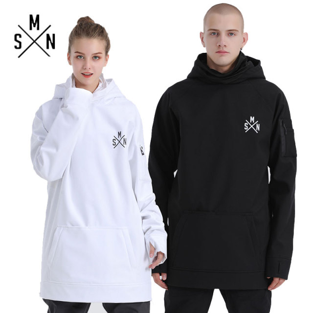 SMN Snowboard Hoodies Couple Jacket Waterproof Thicken Breathable Men Women Ski Coat Warm Winter Outdoor Sport Sweatshirt