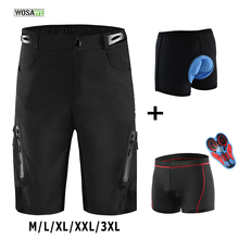 Cycling-Shorts Padded Riding-Trousers Bicycle Mountain-Bike MTB Water-Resistant Men Reflective