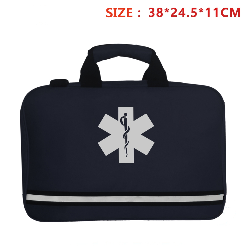 Navy Blue Cross Rescue Pack First Aid Kit Bag Vest Waist Pouch Outdoor Sports Camping Home Medical Emergency Survival Equipment(China)