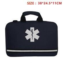 Trousse de premiers secours Cross bleu marine, sac de taille, pochette de gilet, Sports de plein air, Camping à domicile, équipement médical de survie d'urgence