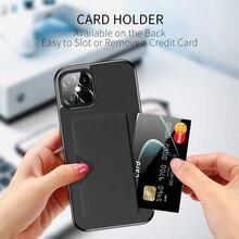 Pochette de téléphone portable avec fente pour carte, étui arrière de meilleure qualité Anti chute pour Iphone 12 Pro Max Mini 11 Xr Xs X 7 8 Plus