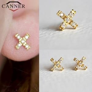 Gold color Chain Tassel Earrings 925 Sterling Silver Charming Zircon Stud Earrings for Women Fashion Jewelry Gift Drop Shipping