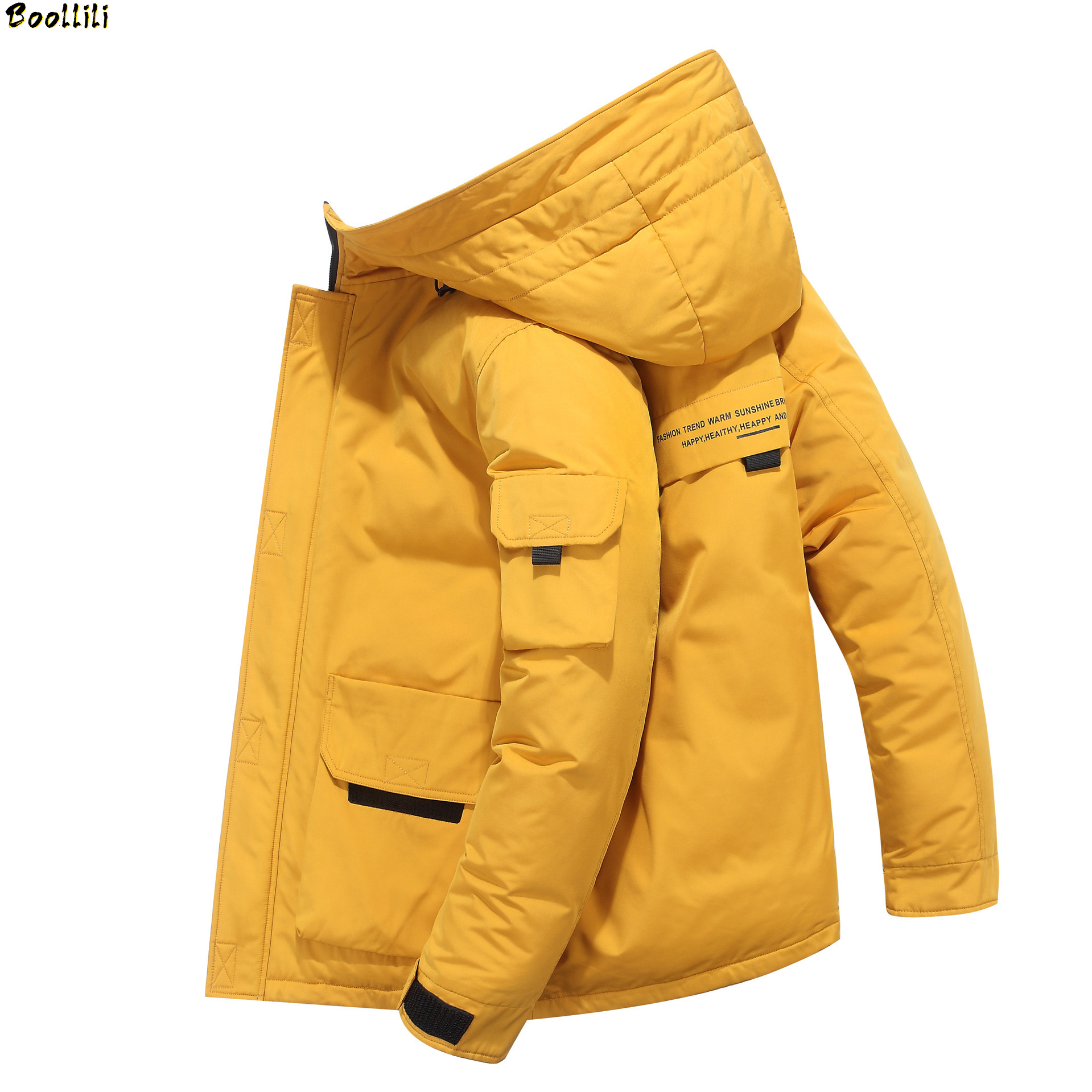 2020  White Duck Down High Quality Men's Winter Jacket Thick Snow Parka Overcoat White Duck Down Jacket Men Wind Down Coat