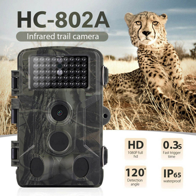 20MP Hunting Video Camera 1080P Trail Camera Farm Home Security 0.3s Trigger Time Wildlife Hidden Trap New Photo Surveillance 2