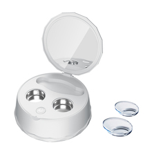 Профессиональный ультра звуковой очиститель для контактных линз, автоматический чехол для очистки линз, очки для близорукости, USB зарядка, звуковая шайба