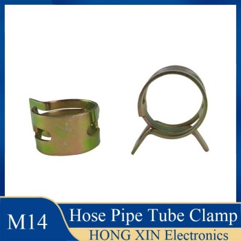 Hose Pipe Tube Clamp 14mm for choose Fuel Spring Clip Vacuum Silicon Hose Clamp Autos Autos Spring Clip Fuel Oil Water 1Pcs
