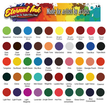 1 oz. 30ml/bottle easy to color professional tattoo ink set with high quality 50 color tattoo ink pigment