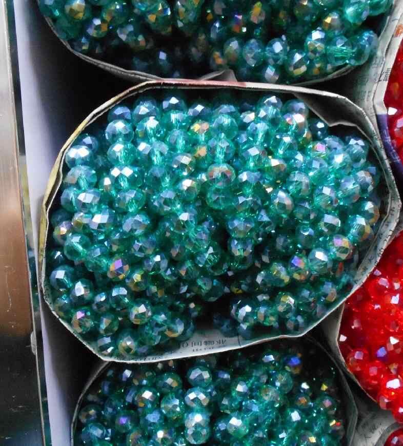 FLTMRH kolor czarny 3*4mm 145 sztuk Rondelle Austria faceted kryształowe szklane koraliki koraliki dystansowe luzem kule do tworzenia biżuterii