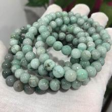 Meihan 7 8mm (2 bracelets/set) natural African Emeraldd gem stone smooth round for jewelry DIY making
