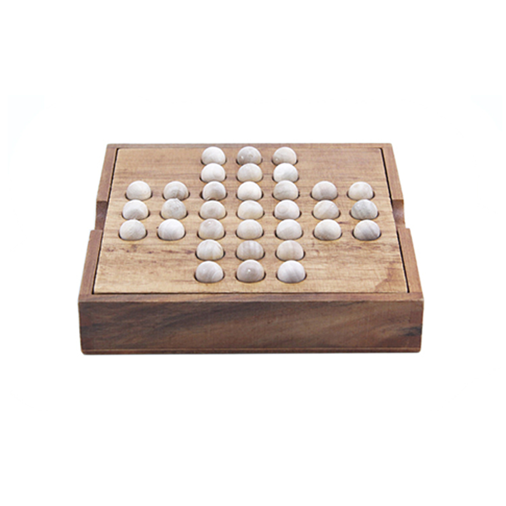 Gifts Solitaire Game Adult Kids Educational Toy Chess Board Develop Intelligence Entertainment Classical Boys Funny Wooden