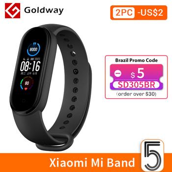Xiaomi-Inteligentna bransoletka Mi Band 5 wodoodporne urządzenie ekran AMOLED tracker fitness Bluetooth sport tanie i dobre opinie Zgodna ze wszystkimi SİLİCA Krokomierz Rejestrator aktywności fizycznej Rejestrator snu Wiadomości z przypomnieniami