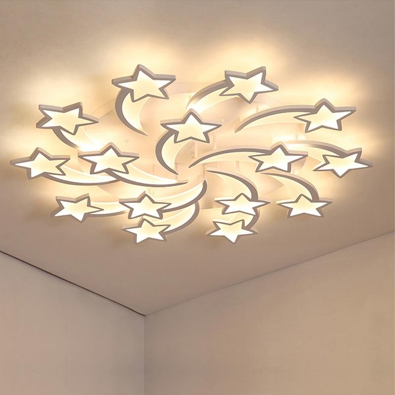 Led lustre de iluminação interior lustres teto com controle remoto lustres sala estar quarto cozinha luminária luz