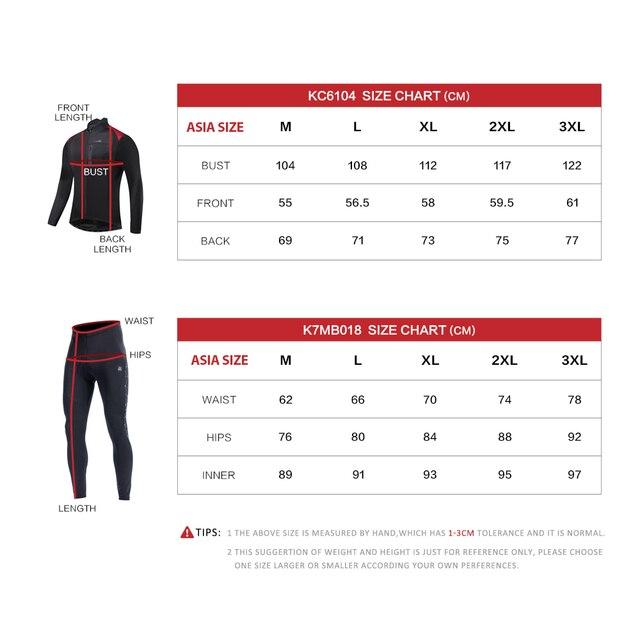 Santic roupas de ciclismo, roupas esportivas térmicas à prova de vento reflexivas para bicicleta, casaco e calças para ciclistas, tamanho asiático 6
