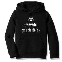 Флисовая толстовка с капюшоном, толстовки Star Wars Dark Side Darth Vader повседневная мужская и женская одежда